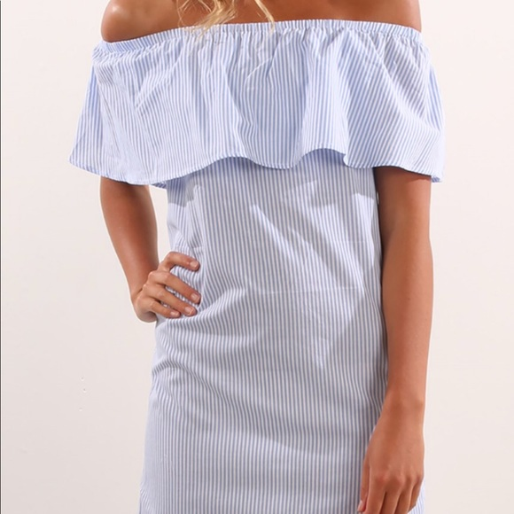 Jean Jail Dresses & Skirts - jean jail dress blue and white stripes